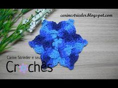 Flor em Crochê para aplicação por Carine Strieder