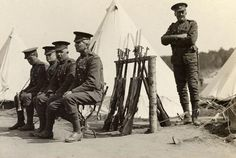 Valcartier photos - 1914 Princess Patricia's Canadian Light Infantry (PPCLI) On guard duty.