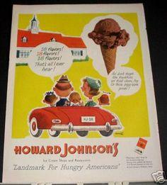 Howard Johnson's - 28 Flavors ad