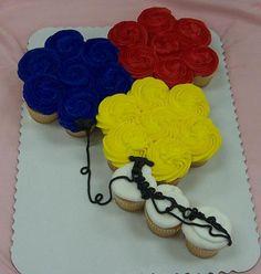 Balloons Cupcake Cake