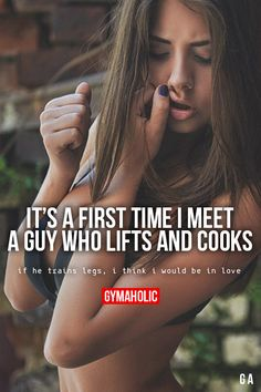 It's A First Time I Meet A Guy Who Lifts And Cooks
