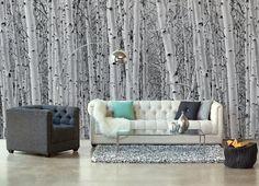 Wallpaper Sticker GREY FOREST by Sticky!!!