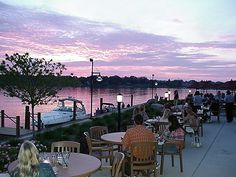 Boatwerks Restaurant, arrive by boat or car, watch the sunset over Lake Macatawa
