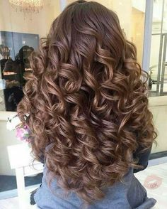 Want to wake up with curls but can't decide between spiral perm vs regular perm? We're telling you everything you need to know about spiral perm hairstyles! Long Curly Hair, Wavy Hair, Curly Hair Styles, Curls Hair, Big Curls For Long Hair, Curled Prom Hair, Perms On Long Hair, Long Formal Hair, Thick Long Hair