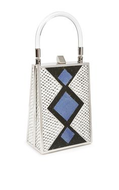 Jill Haber Sebastian Signature Argyle Pebble Python And Stingray Minaudiere by Jill Haber Spring-Summer 2015 (=)