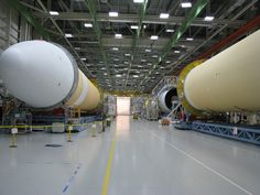 The Delta IV Heavy Lift rocket that will be used for Orion%u2019s first mission, Exploration Flight Test-1, is in the final assembly area at United Launch Alliance%u2019s factory in Decatur, Ala.