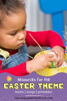 Get ready to plan with these preschool Easter theme resources! This list includes activities, songs, books and printables that we will be using in our toddler and preschool classroom this year. #toddler #preschool #Easter #theme #resources #activities #songs #books #printables #2yearolds #3yearolds #teachers #classroom #teaching2and3yearolds Spring Activities, Preschool Activities, Toddler Preschool, Spring Books, 3 Year Olds, Preschool Classroom, Pre School, Teacher Resources, My Books