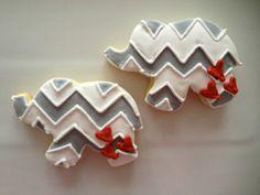 Valentine's Day Elephant Cookies