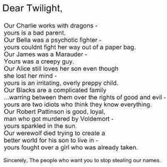 Lol. I have nothing against twilight but this is funny