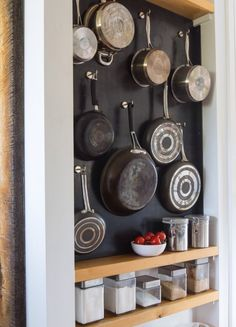 Smart 30 DIY Kitchen Storage Solutions For Your Small Kitchen - Organization ideas for the home clutter - Small Kitchen Solutions, Small Kitchen Storage, Smart Kitchen, Kitchen Organization, New Kitchen, Kitchen Ideas, Organization Ideas, Kitchen Pantry, Kitchen Small
