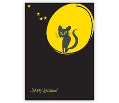 Halloweenkarte mit mondsüchtiger Katze - http://www.1agrusskarten.de/shop/halloweenkarte-mit-mondsuchtiger-katze/    00012_0_566, Glückwunschkarten, Gruseln, Grußkarte, Halloween Karten, Helga Bühler, Katze, Klappkarte, Mond, mondsüchtig00012_0_566, Glückwunschkarten, Gruseln, Grußkarte, Halloween Karten, Helga Bühler, Katze, Klappkarte, Mond, mondsüchtig