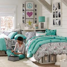 Chic and inviting shared teen girl rooms ideas!