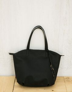Shopper bag with zipper - Bags - Bershka Israel Shopper Bag ffcb10f080eb5