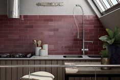Artesano Burgundy 6.5x20cm Tiles from £0.49 - Tons of Tiles
