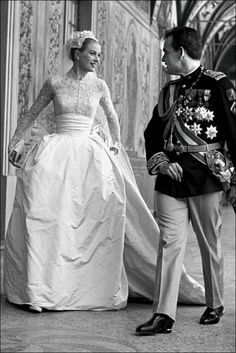 So effortlessly elegant and perfect! Princess Grace and Prince Rainier!