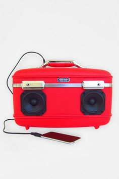 Vintage suitcase. The Little Devil. #speaker #BoomCase #urbanoutfitters