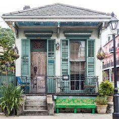 Print French Quarter Shotgun House New Orleans New Orleans Decor, New Orleans Art, New Orleans Homes, Creole Cottage, Cottage Style, New Orleans Architecture, Small Cottages, Small Houses, New Orleans French Quarter