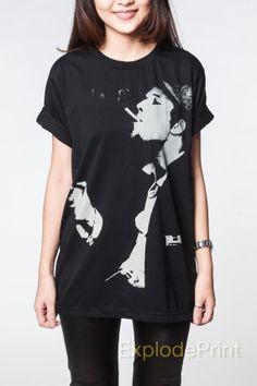 Tom Waits Tshirt Women Classic Folk Music Smoking by ExplodePrint, $15.99