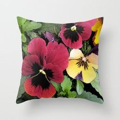 Shop WildSeaDesign's store featuring unique designs on various products across art prints, tech accessories, apparels, and home decor goods. Pansies, Tech Accessories, Throw Pillows, Art Prints, Unique, Pretty, Design, Home Decor, Art Impressions