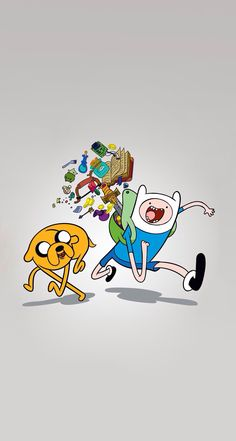 Finn the human and Jake the dog