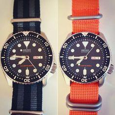 REPOST!!!  Spring strap change for the SKX ☀️#seiko #seikodiver #japan #horology #watch #time #nato #natostrap #zulu #orange #bond #diver #timepiece #watchgeek #watchuseek #hodinkee #skx007  repost | credit: ID @lukemarr89 (Instagram)