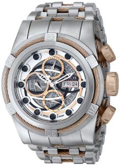 Men's Wrist Watches - Invicta Mens 14308 Bolt Analog Display Swiss Automatic Silver Watch *** Find out more about the great product at the image link. (This is an Amazon affiliate link)