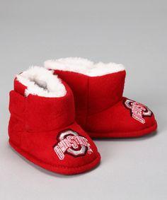 Red Ohio State University Slipper Boot