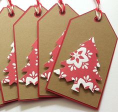 Christmas Gift Tags - Kraft Christmas Tree Gift. Use cerial box cardboard glue to envelope if you have need of supply....think outside the box