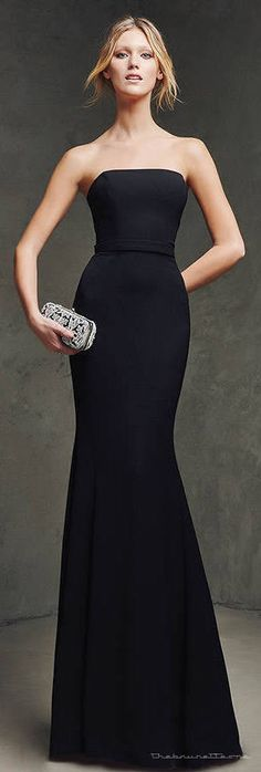 style | gorgeous gowns - beautiful black gown by pronovias, 2016