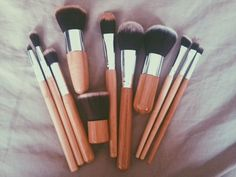 11 Pcs Bamboo Makeup Foundation Fiber Liner Eyeshadow Cosmetic Brush Set Bag Kit review(s)