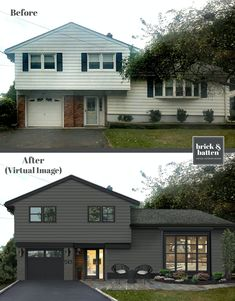 At brick&batten we have curated 16 of the best paint colors for your home's exterior in Painting your home's exterior can be quite a task. Home Exterior Makeover, Exterior Remodel, Best Paint Colors, Paint Colors For Home, Outdoor Paint Colors, Exterior Paint Colors For House, Home Exterior Design, Cabin Exterior Colors, Modern Exterior House Designs