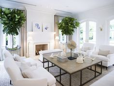 Soft white living room | fireplace close up | lighting