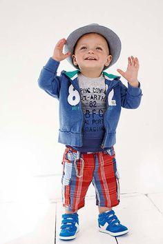 Baby boy vest met capuchon | Babyface zomer collectie 2014 | www.kienk.nl