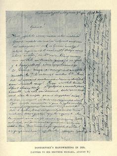 Dostoevsky's handwriting
