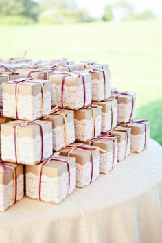 Wedding Favor Inspiration! Purchase Kraft Boxes here CustomKraftBox.com