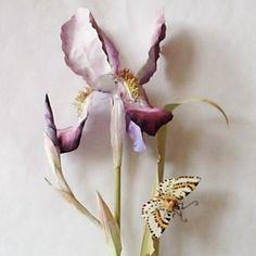 Iris - painted metal
