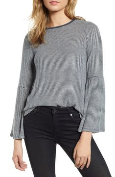$35.7. LUCKY BRAND Top Stripe Bell Sleeve Top #luckybrand #top #clothing Bell Sleeves, Bell Sleeve Top, Lucky Brand Tops, Printed Tees, Nordstrom, Clothes, Black Friday, Fashion Women, Style