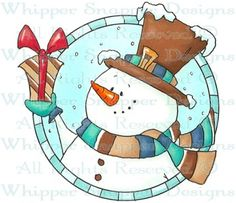 Snowman Circle - Snowmen Images - Snowmen - Rubber Stamps - Shop