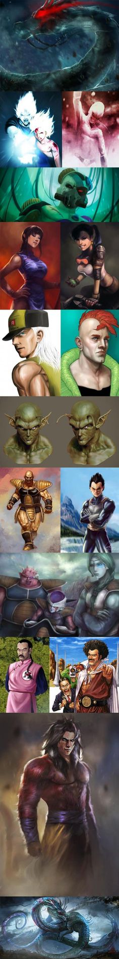 This is pretty legit! If they remade that terrible dragonball evolution, this would be awesome.