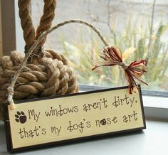 Funny wall plaque for a dog lover by SallyGristArtwork on Etsy, £12.00