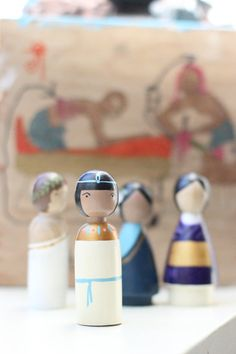 Wooden Peg Dolls // Ancient Cultures // Kids Gift Wooden Dolls
