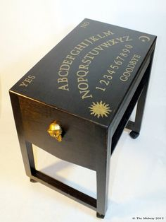 OOAK Halloween Ouija Board Table Phone Table by TheMidway