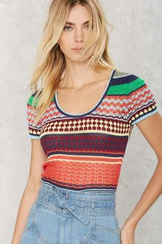 Trip Out Striped Knit Top - What's New : Clothes
