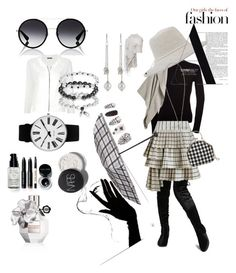 """gray girl"" by missuahmed ❤ liked on Polyvore featuring Zimmermann, Burberry, Uma 