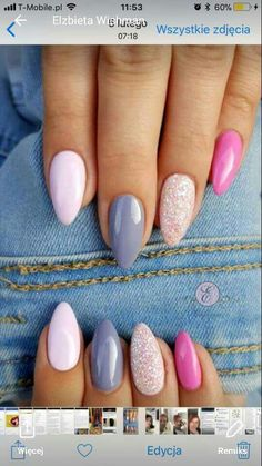 Ideas Nails Stiletto Bordeaux Manicures For 2019 Rose Gold Nails, Glitter Nails, Colorful Nail Designs, Nail Art Designs, Nails Only, Manicure Y Pedicure, Trendy Nail Art, Summer Acrylic Nails, Super Nails