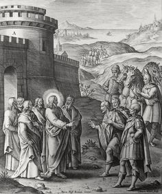 Phillip Medhurst presents John's Gospel: Bowyer Bible print 5355 Christ heals the nobleman's son John 4:49-53 Passeri on Flickr. A print from the Bowyer Bible, a grangerised copy of Macklin's Bible in Bolton Museum and Archives, England.
