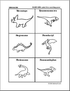 Dinosaurs worksheets, books--some free
