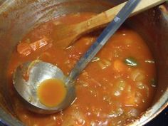 Soppa som ska få fart på förbränningen.