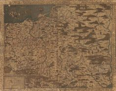 Map of Poland, Lithuania and Russia dating back to the XVI century. It was created by a Polish cartographer, Wacław Grodziecki, around the year 1552 Poland History, Lithuania, Cartography, Old Photos, My Drawings, Herb, Vikings, Vintage World Maps