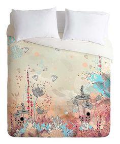 Love this Peach & Aqua Iveta Abolina Crystal Lake Duvet Cover on #zulily! #zulilyfinds
